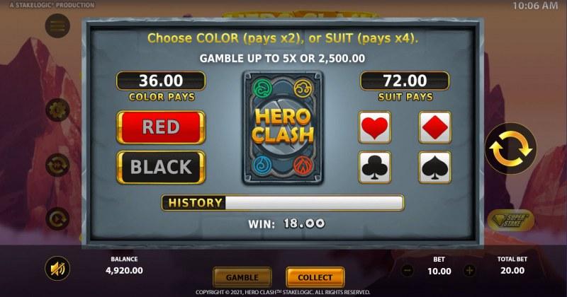 Hero Clash :: Gamble feature