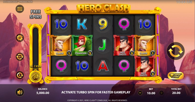 Hero Clash :: Base Game Screen