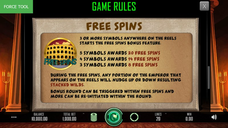 Heroes Empire :: Free Spins Rules