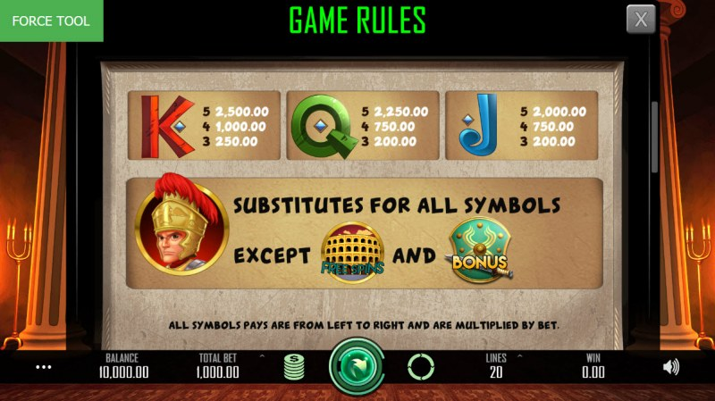 Heroes Empire :: Paytable - Low Value Symbols