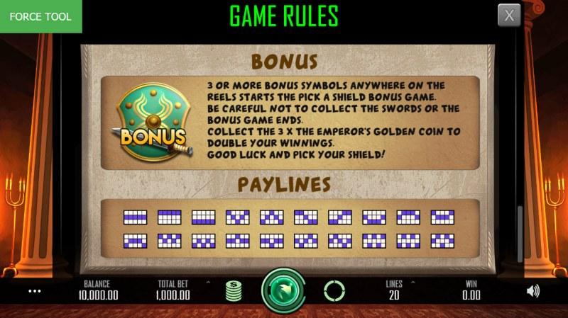 Heroes Empire :: Bonus Game Rules