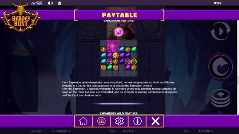 Heroes Hunt Megaways :: Explosion Feature