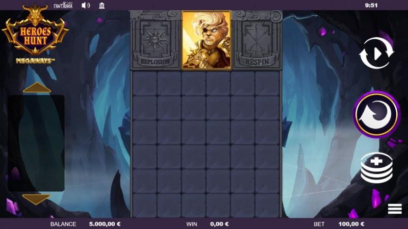 Heroes Hunt Megaways :: Main Game Board