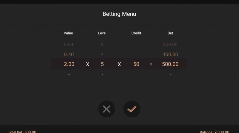 Heroes Rise of the Legend :: Available Betting Options