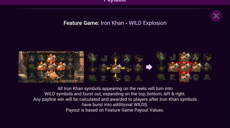 Heroes Rise of the Legend :: Iron Khan Wild Explosion  Feature Rules