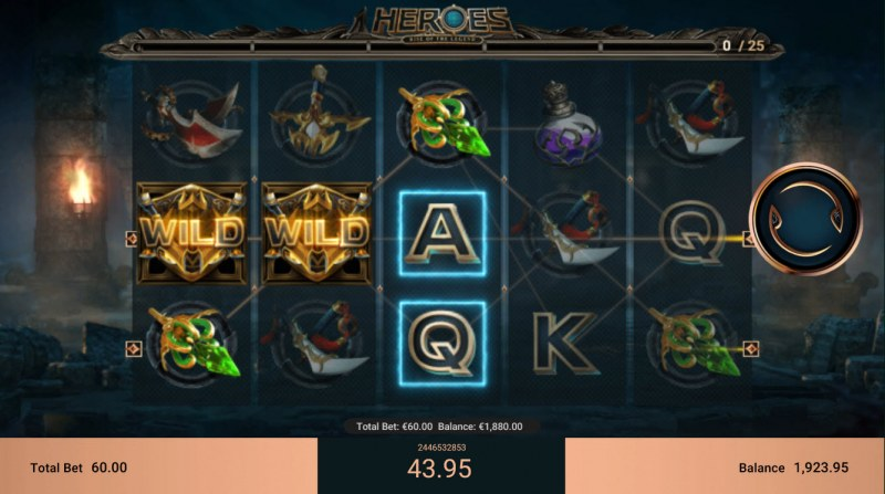 Heroes Rise of the Legend :: Multiple winning paylines