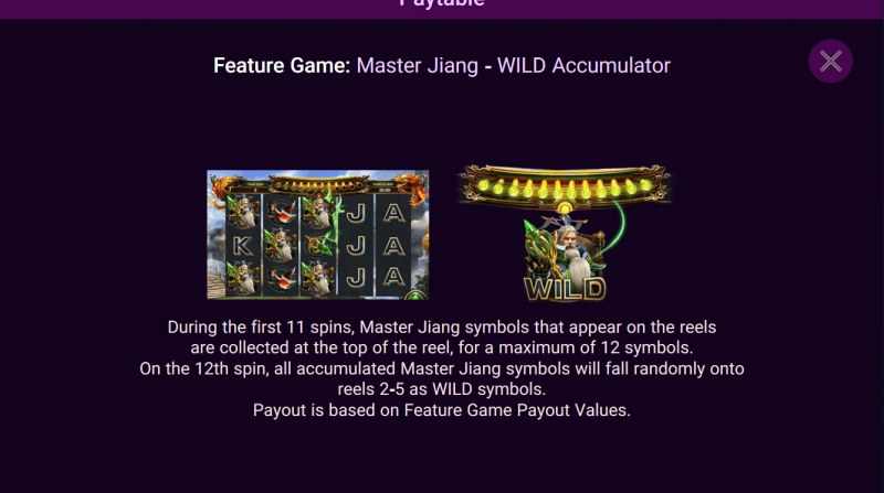 Heroes Rise of the Legend :: Master Jiang Wild Accumulator Feature Rules