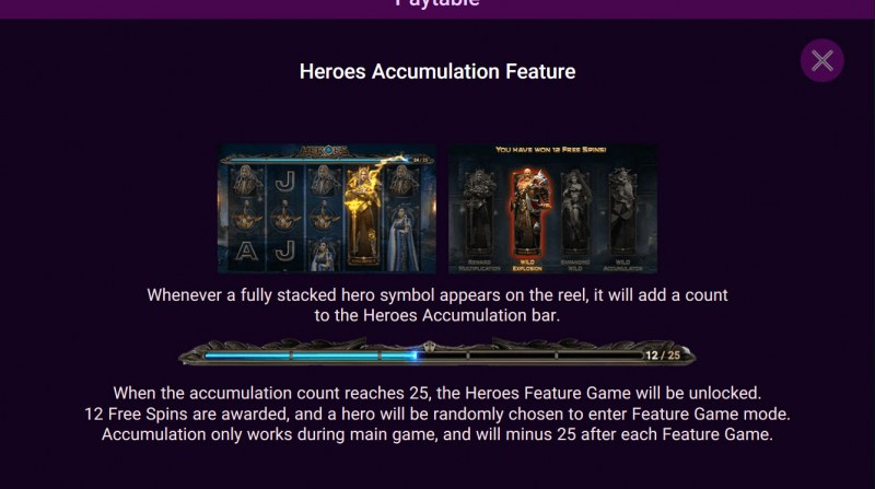 Heroes Rise of the Legend :: Feature Rules