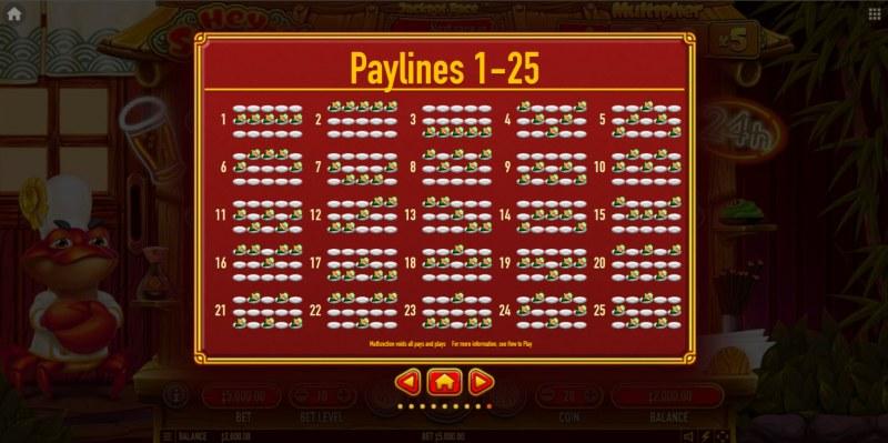 Hey Sushi :: Paylines 1-25
