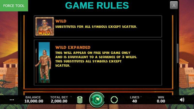 Hidden Kingdom :: Wild Symbols Rules