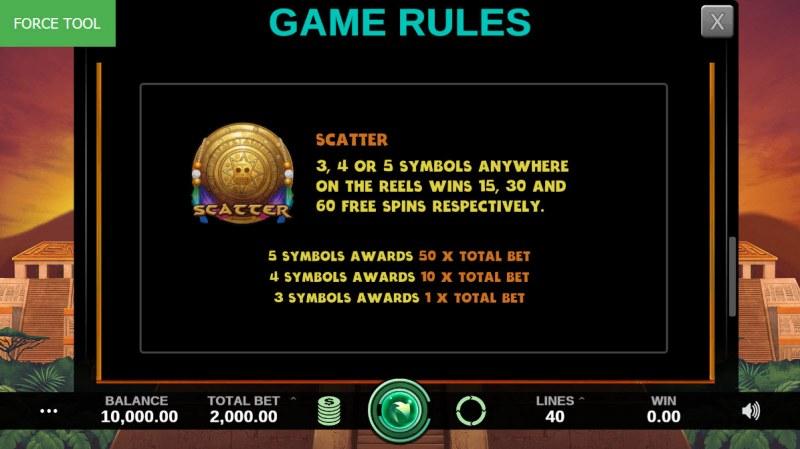 Hidden Kingdom :: Free Spins Rules