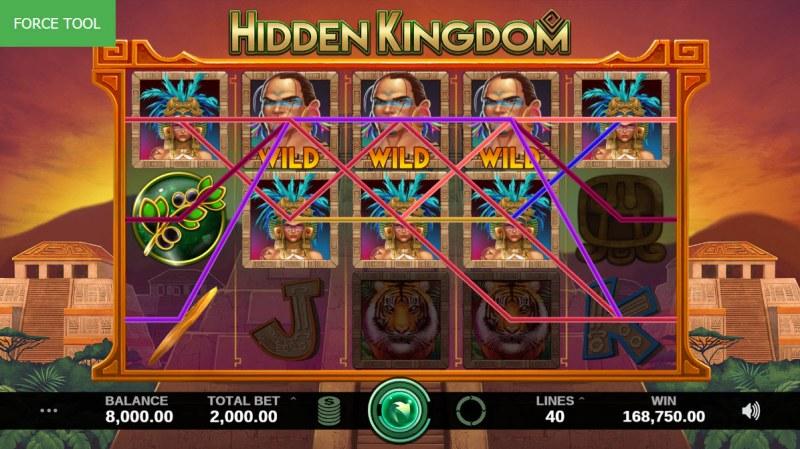 Hidden Kingdom :: Multiple winning combinations leads to a super win