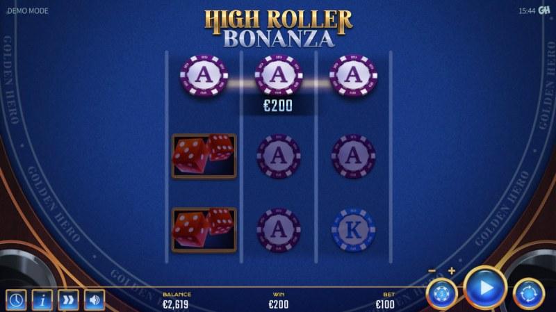 High Roller Bonanza :: A three of a kind win