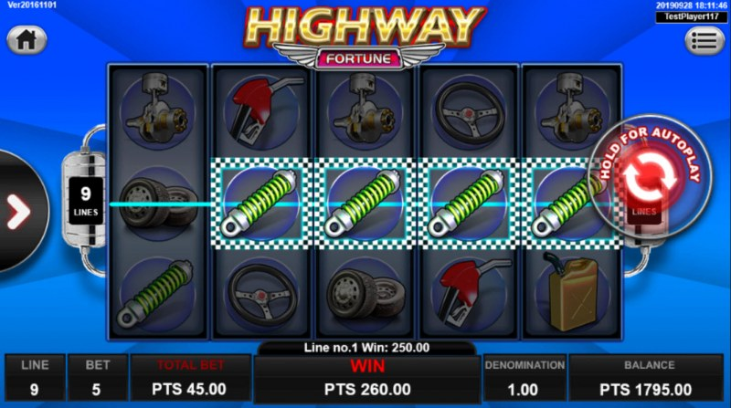 Highway Fortune :: Game pays in both directions