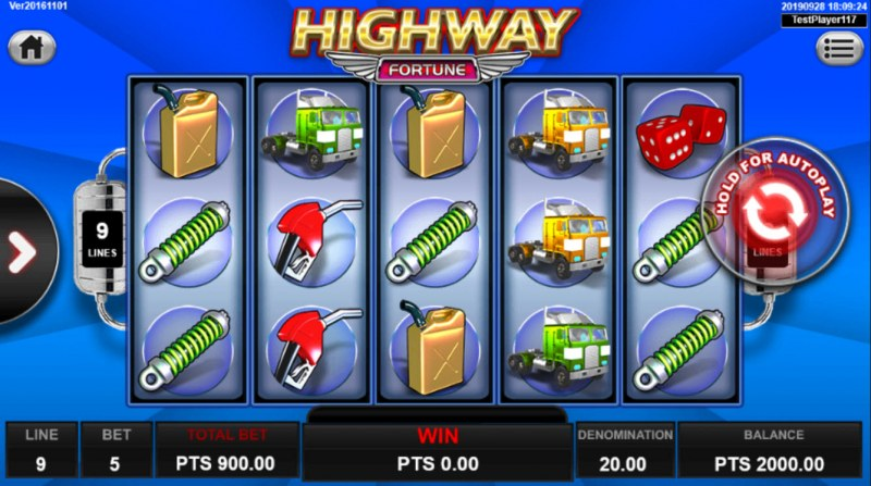 Highway Fortune :: Main Game Board
