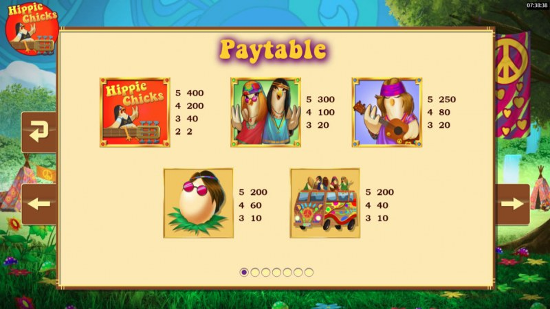 Hippie Chicks :: Paytable - High Value Symbols