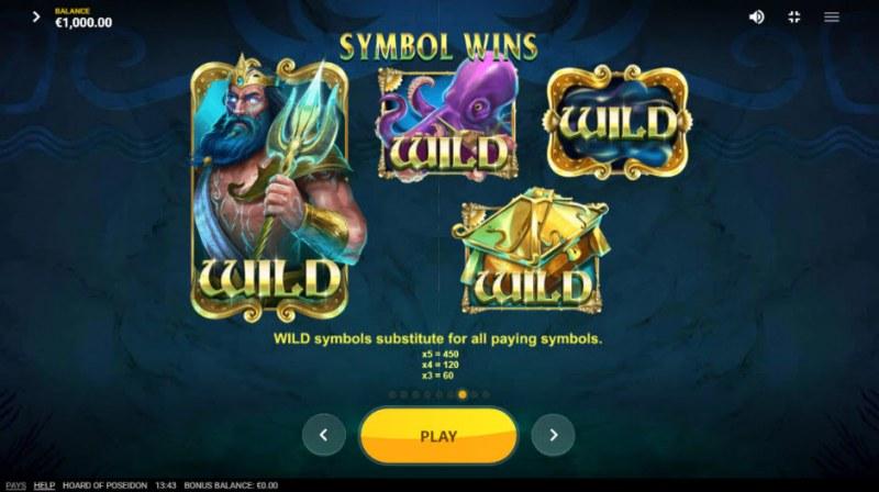 Hoard of Poseidon :: Wild Symbols Rules