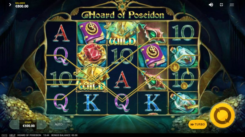 Hoard of Poseidon :: Multiple winning paylines
