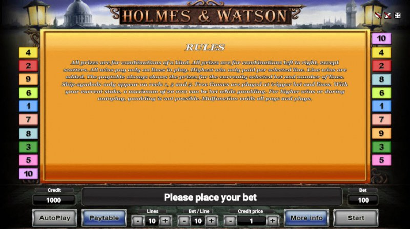 Holmes & Watson :: General Game Rules