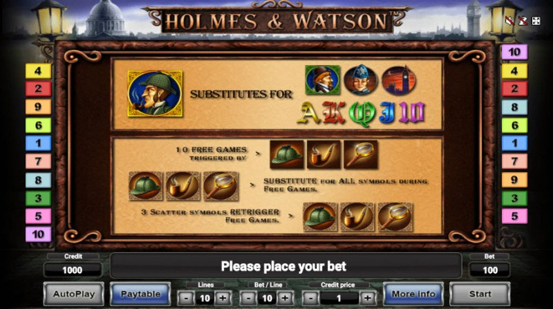 Holmes & Watson :: Wild and Scatter Rules