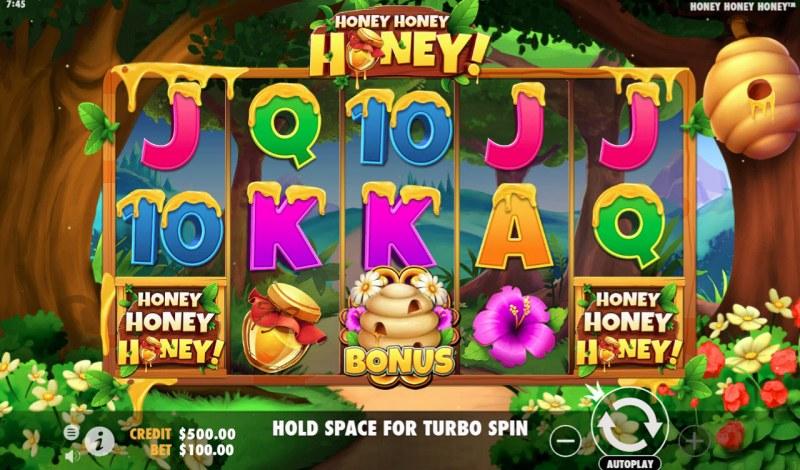 Play slots at Wildz Casino: Wildz Casino featuring the Video Slots Honey Honey Honey with a maximum payout of $40,000