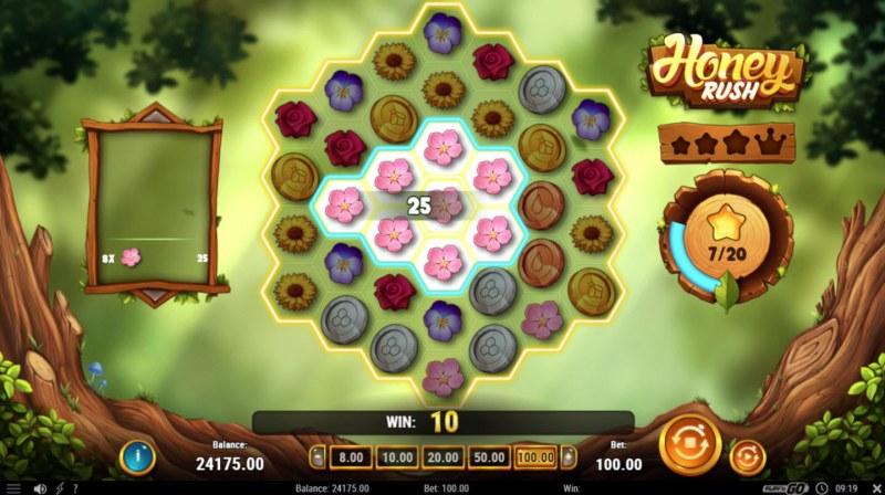 Honey Rush :: An 8 symbol win