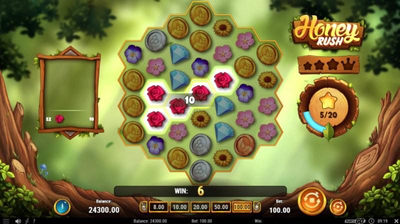 Honey Rush :: Cluster Win