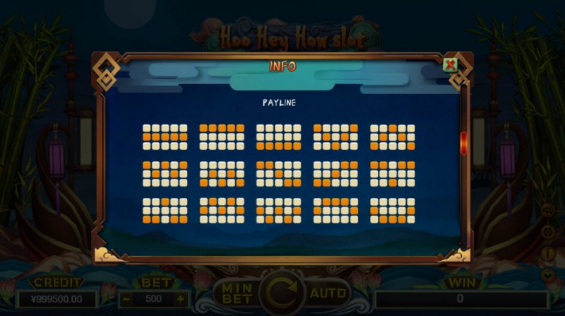 Hoo Hey How Slot :: Prize Lines 1-15