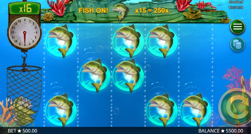 Hooked :: Awesome, you caught 8 fish