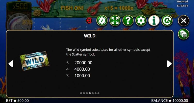 Hooked :: Wild Symbols Rules