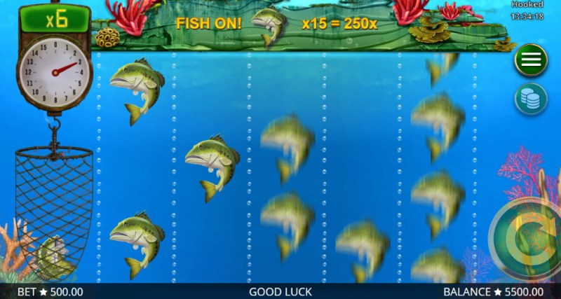 Hooked :: Collect fish and earn a prize multiplier