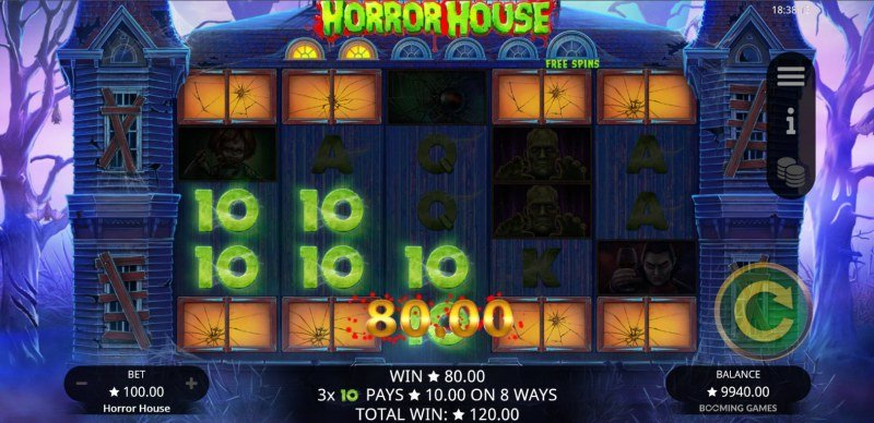 Horror House :: Additional ways to win are opened up with each consecutive win