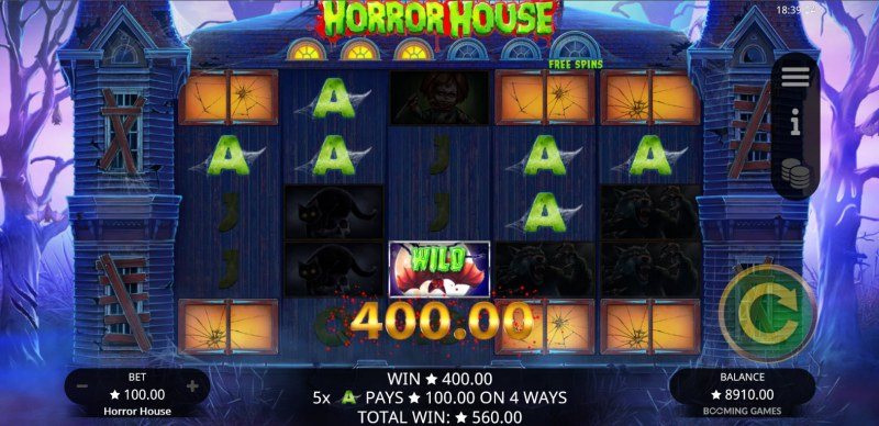 Horror House :: A five of a kind win