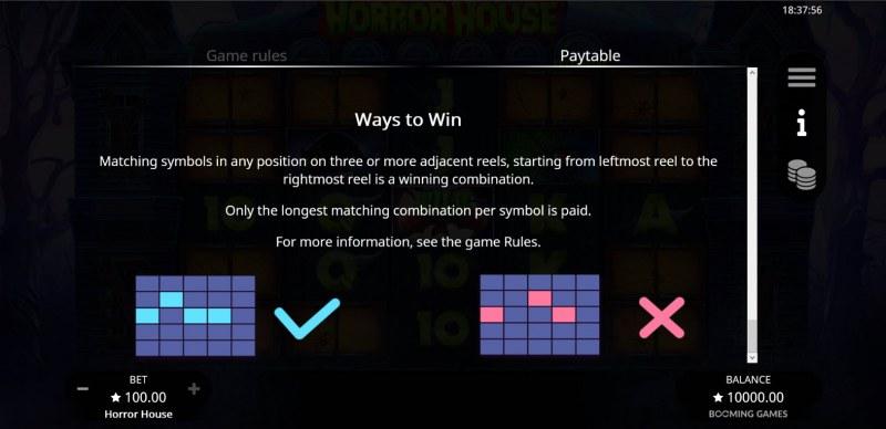 Horror House :: Ways to Win