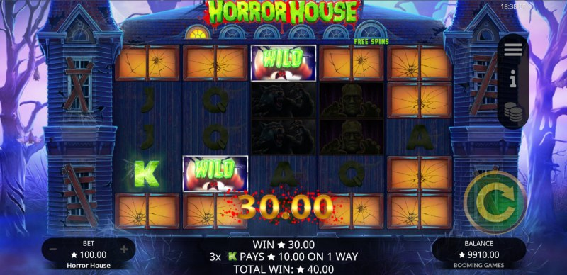 Horror House :: Respin triggers an additional win