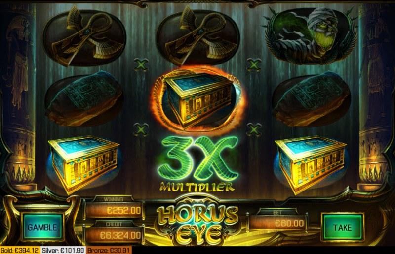 Horus Eye :: 3x win multiplier