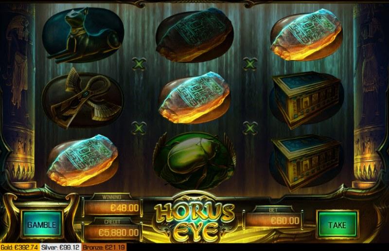 Horus Eye :: Three of a kind win