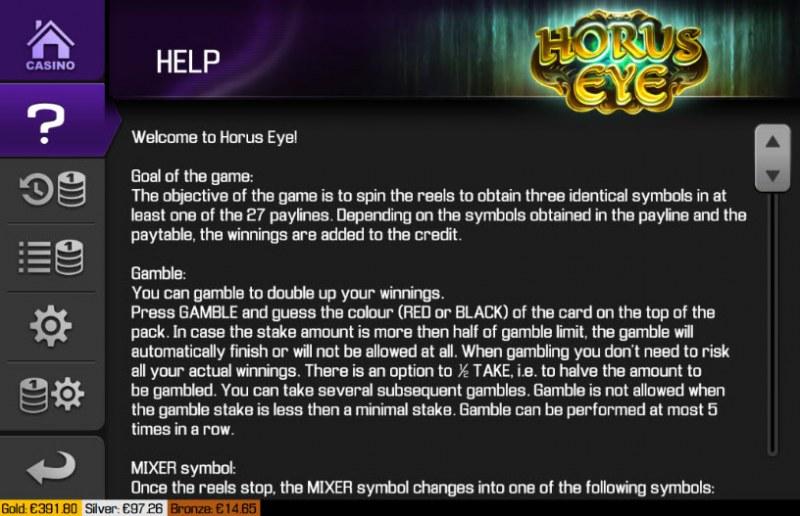 Horus Eye :: General Game Rules