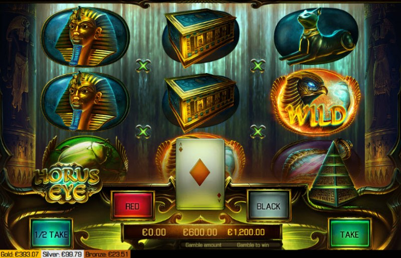 Horus Eye :: Red or Black Gamble Feature