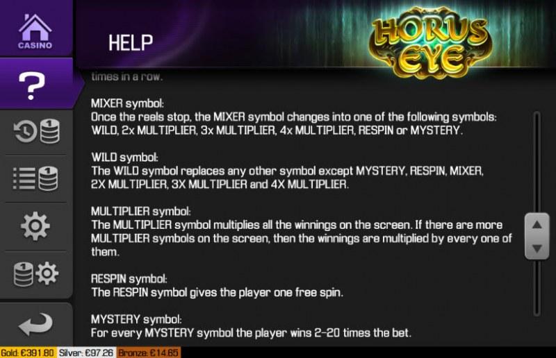 Horus Eye :: Feature Rules