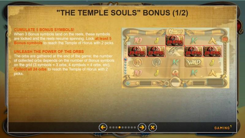 Horus Temple :: Bonus Game Rules