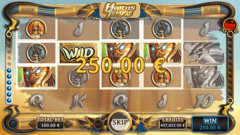 Horus Temple :: Multiple winning combinations