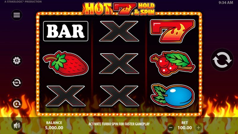 Hot 7 Hold & Spin :: Main Game Board