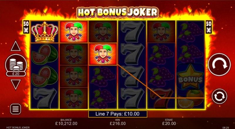 Hot Bonus Joker :: Multiple winning paylines