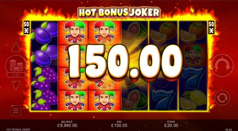 Hot Bonus Joker :: Multiple winning paylines triggered by stacked wilds