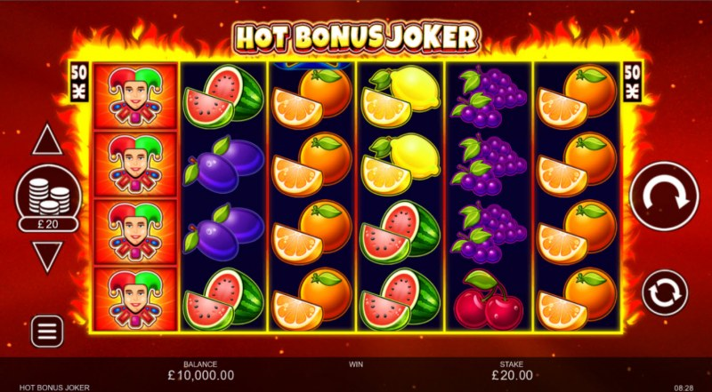 Hot Bonus Joker :: Main Game Board