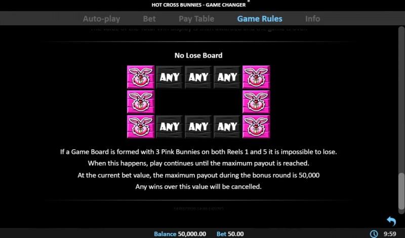 Hot Cross Bunnies Game Changer :: no Lose Board