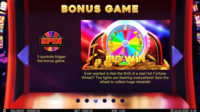 Hot Fortune Wheel 80 :: Bonus Game Rules