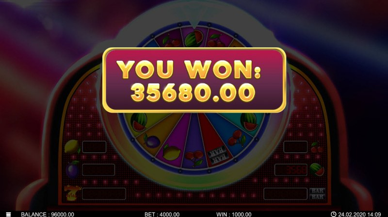 Hot Fortune Wheel 80 :: Total bonus payout