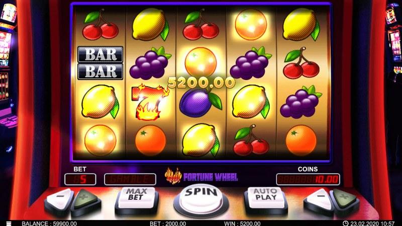Hot Fortune Wheel :: Multiple winning paylines